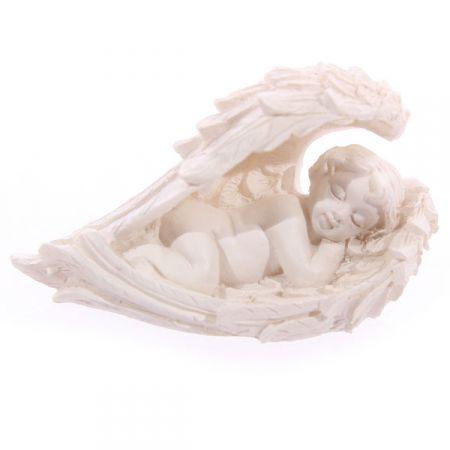 Figurka Anioła z dużymi skrzydłami w prezentowej torebce