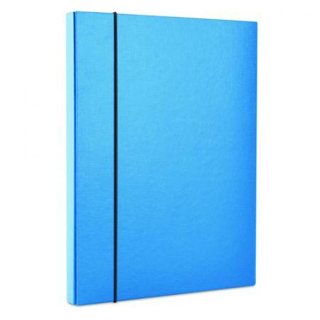 Teczka-pudełko z gumką  PP, A4/30, niebieska