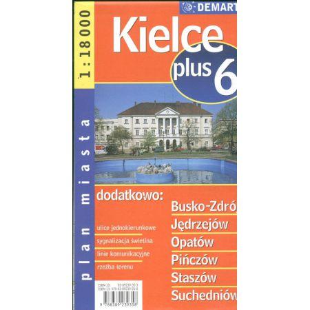 Plan miasta Kielce +6 1:18 000 DEMART