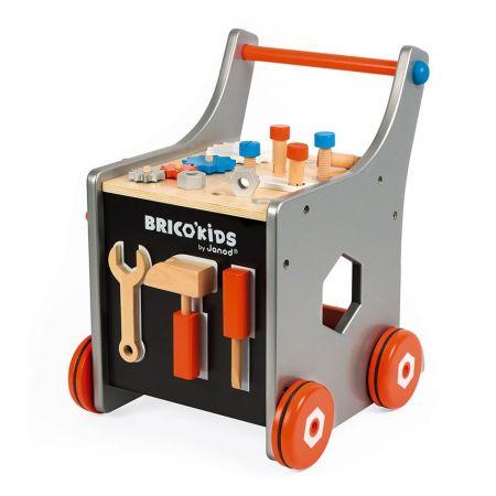 Wózek warsztat magnetyczny z narzędziami  Brico 'Kids, Janod
