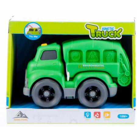 Auto ciężarowe śmieciarka cartoon