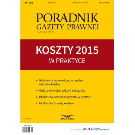 Koszty 2015 w praktyce