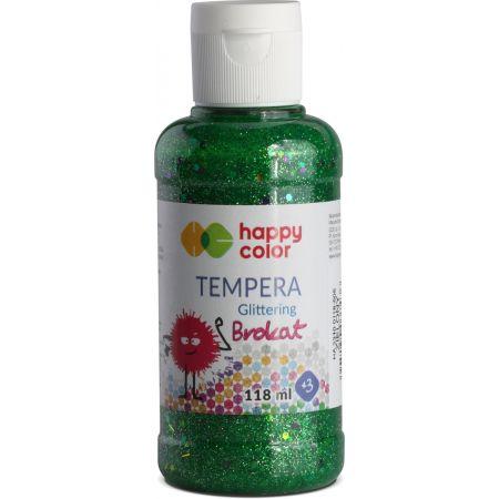 Farba Tempera 118ml brokat zielona HAPPY COLOR