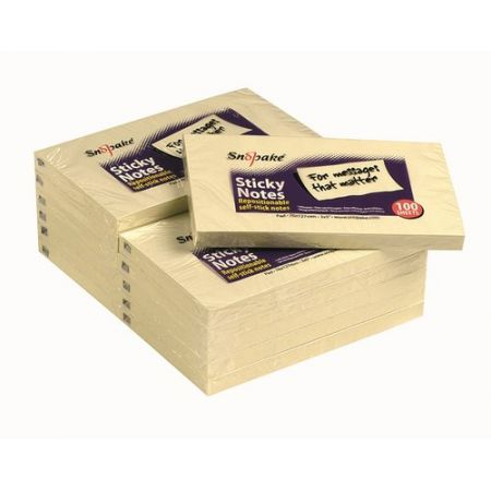 Karteczki samoprzylepne 127x76 zółte 100 kartek