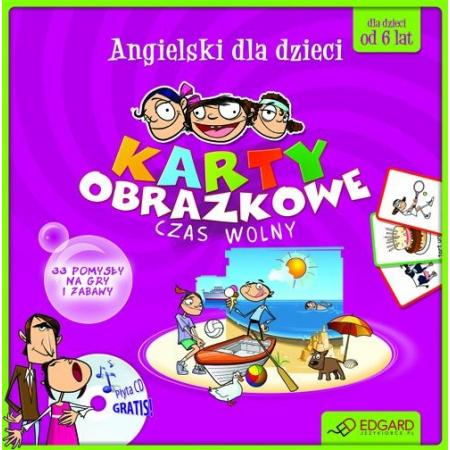 Angielski dla dzieci. Czas wolny (karty obrazkowe + poradnik + płyta CD)