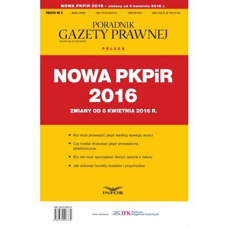 Nowa PKPIR 2016 - zmiany od 8 kwietnia 2016 r.