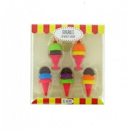 Gumki do mazania - zestaw lody