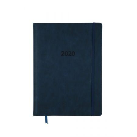 Kalendarz 2020 KK-A4TL książkowy A4 tygodniowy Lux niebieski