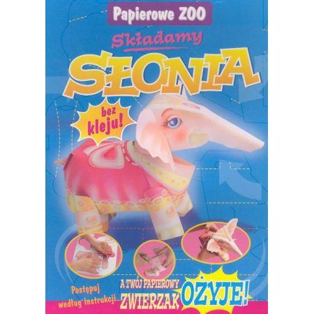 Papierowe Zoo. Składamy słonia