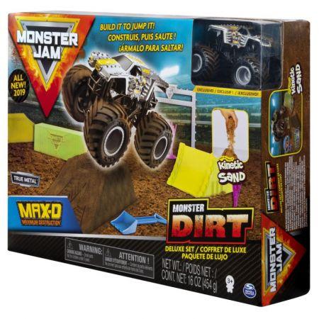 Auto Monster Jam + Piasek kinetyczny Deluxe 20103746