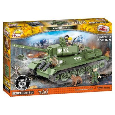 Small Army. Czołg T34. Rudy 102. Czterej Pancerni i pies