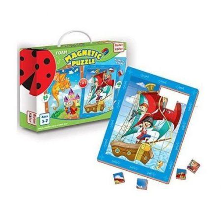 Puzzle Piankowe magnetyczne w pudełku odważny rycerz i piraci rk1301-02