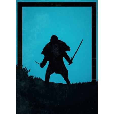 Dawn of Heroes - Jon Snow. Gra o tron - plakat