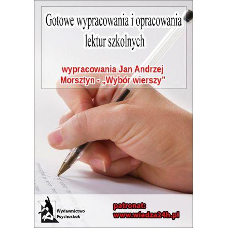 Wypracowania Jan Andrzej Morsztyn Wybór Wierszy