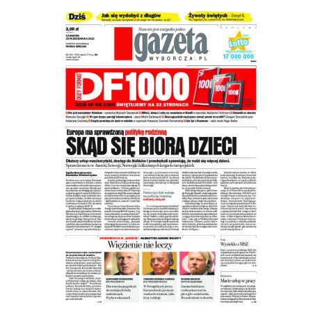 Gazeta Wyborcza - Łódź 250/2012