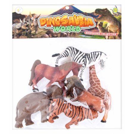 Zwierzęta dzikie figurki  MEGA CREATIVE 460480