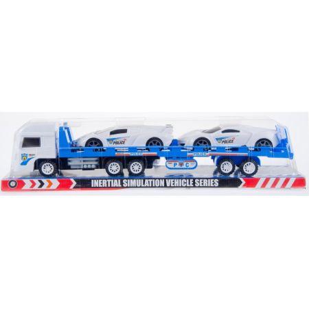 Auto Policja laweta plus dwa samochody MEGA CREATIVE 459635
