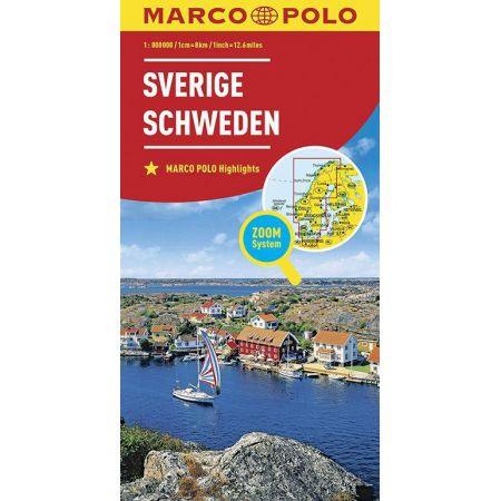 Mapa ZOOM System. Szwecja 1:800 000 MARCO POLO