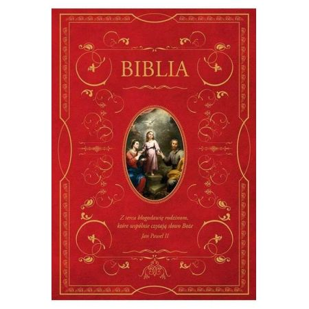 Biblia z obwolutą - Święta Rodzina