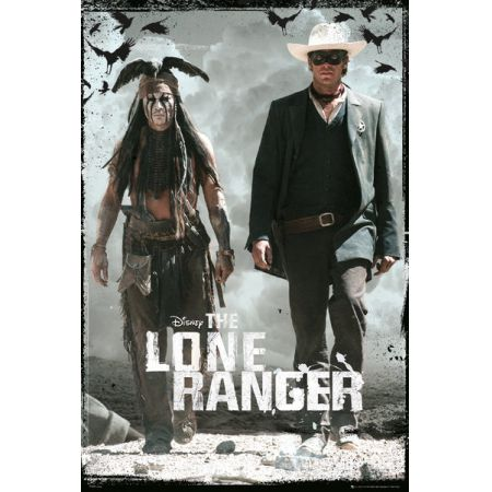 Jeździec Znikąd - The Lone Ranger - plakat