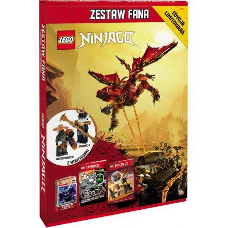 Lego Ninjago. Zestaw Fana. 3 książki i 2 minifigurki: Łowca smoków, Samuraj X