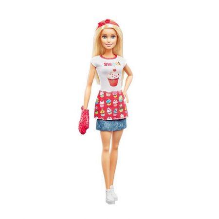 Barbie. Domowe wypieki zestaw + lalka