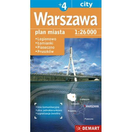 Warszawa plus 4 plan miasta 1:26 000