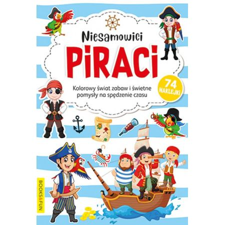 Kolorowanka z naklejkami - Niesamowici Piraci