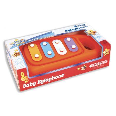 Ksylofon z plastikową pałeczką do gry