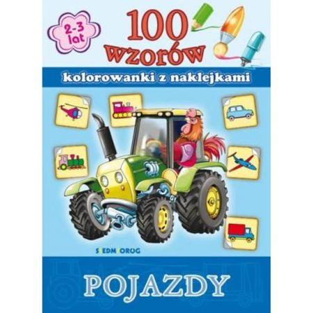 100 Wzorow Kolorowanki Z Naklejkami Pojazdy W Taniaksiazka Pl