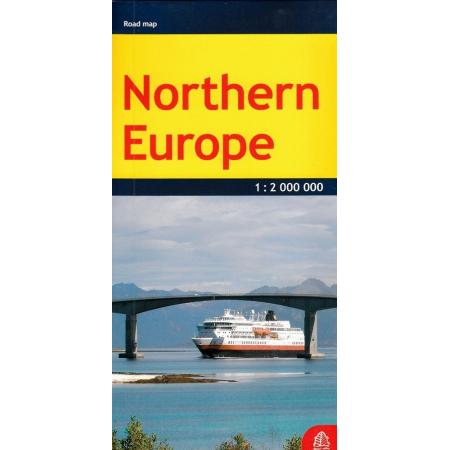 Europa północna mapa samochodowa 1:2 000 000