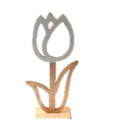 Ozdoba dekoracyjna drewniana kwiaty WN9359