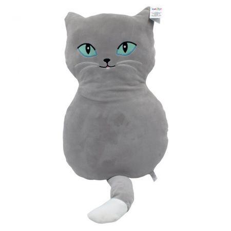 Maskotka Poduszka Kot Czaruś szary 52 cm