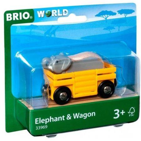 Brio Słoń w wagoniku