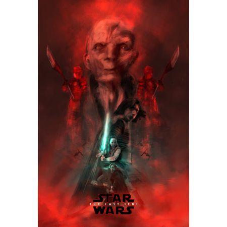 Star Wars Gwiezdne Wojny Ostatni Jedi Bohaterowie Plakat Premium