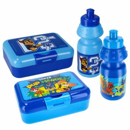 Psi patrol. Niebieski bidon 350 ml i pudełko śniadaniowe