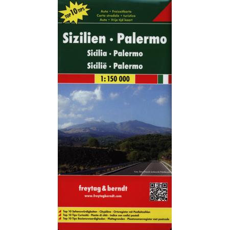 Mapa samochodowa - Sycylia, Palermo 1:150 000
