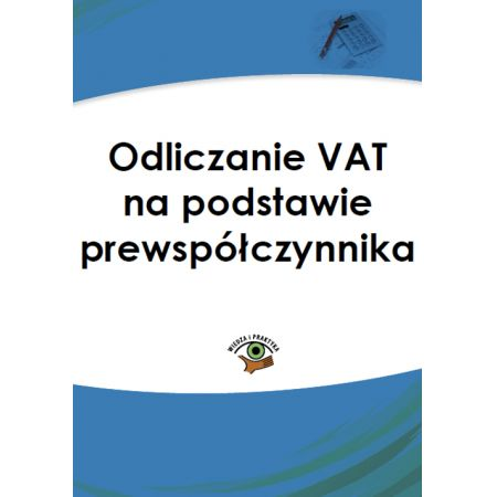 Odliczanie VAT na podstawie prewspółczynnika