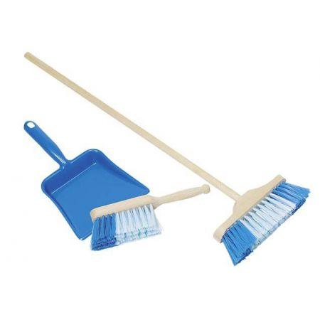 Zestaw do sprzątania niebieski