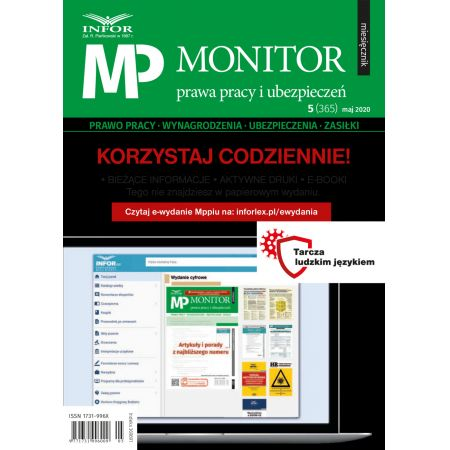 Monitor Prawa Pracy i Ubezpieczeń 5/2020