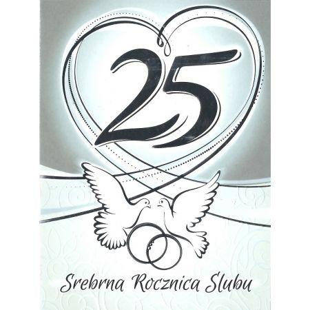 Karnet 25 Rocznica ślubu Rs0325 Artnuvo W Taniaksiazkapl