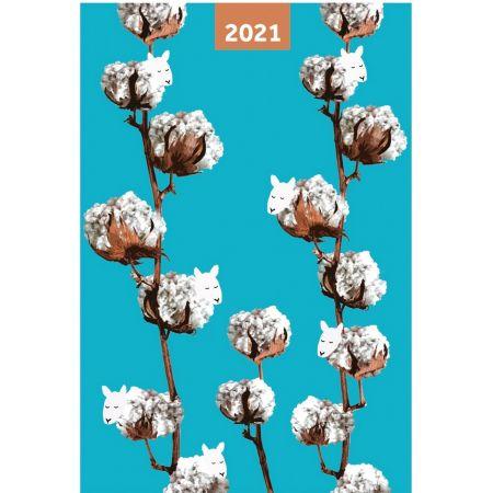Kalendarz 2021 A5 dzienny Cotton NARCISSUS