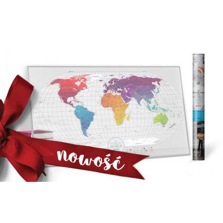 Mapa zdrapka świat travel map air world