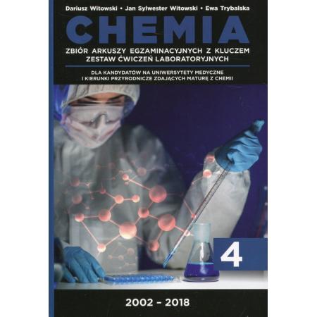 Chemia. Matura 2002-2018. Tom 4. Zbiór arkuszy egzaminacyjnych z kluczem. Zestaw ćwiczeń laboratoryjnych