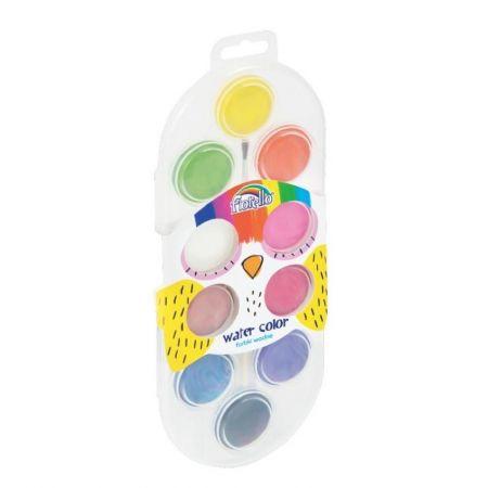 Farby wodne 10 kolorów FIORELLO