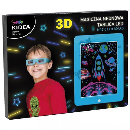 Magiczna neonowa tablica 3D led Kidea niebieska