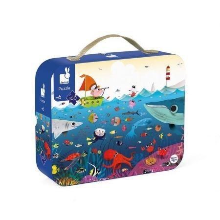 Puzzle w walizce Podwodny świat 100 elementów 6+
