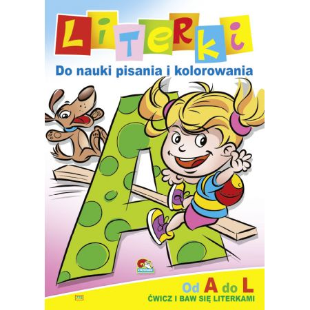 Literki do nauki pisania i kolorowania. Od A do L