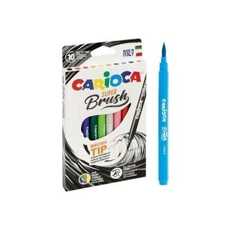 Pisaki Brush Tip 10 kolorów CARIOCA