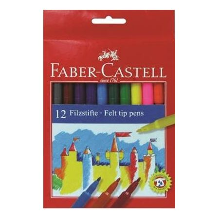 Flamastry Zamek 12 kolorów FABER CASTELL